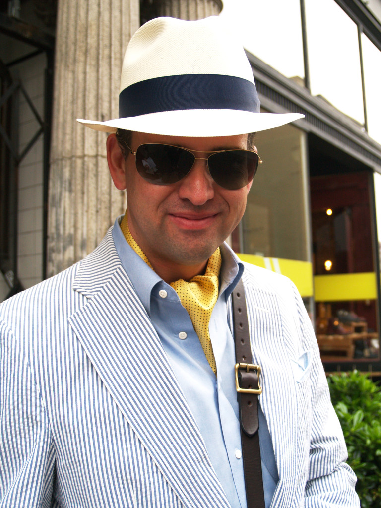 Seattle Men's Fashion: Seersucker Suit  and Summer Hat