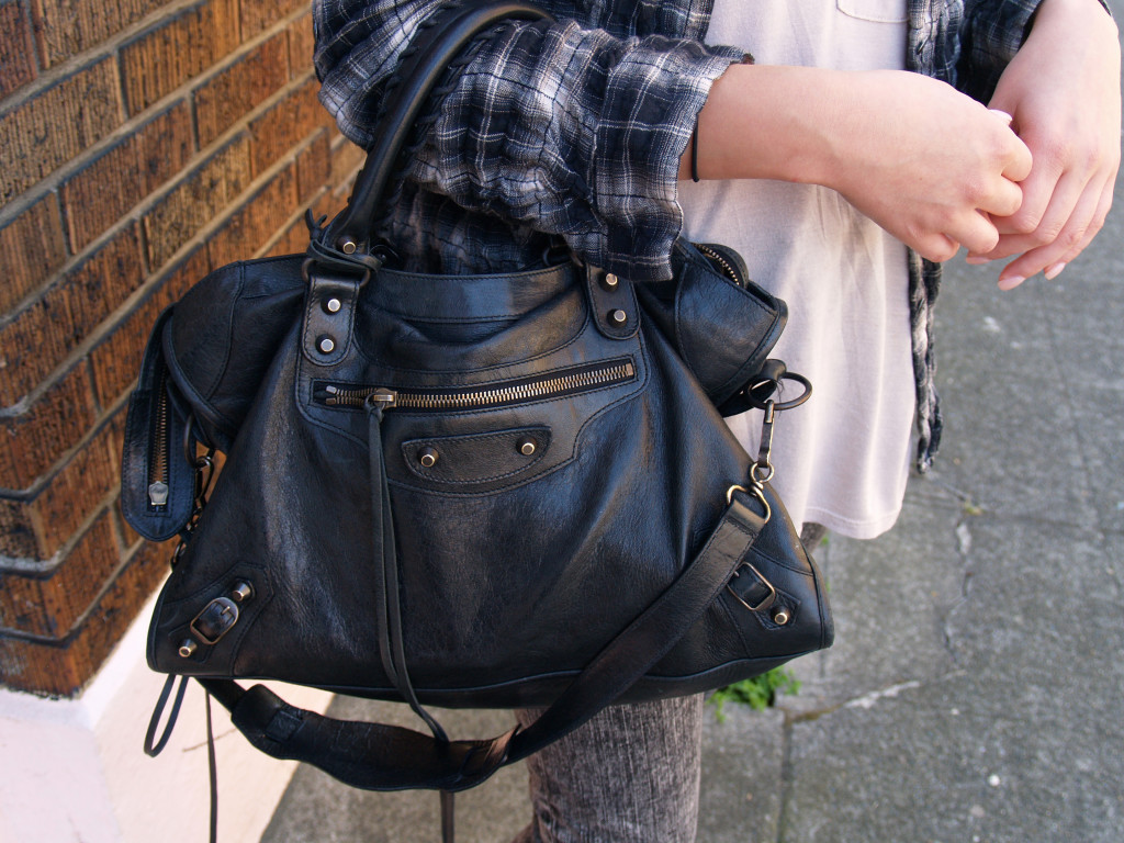 Black Balenciaga Purse: The City Collection