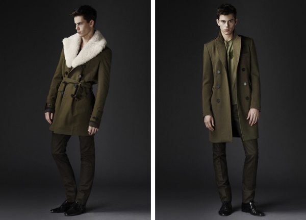 Mens Military Trends: Burberry Prorsum fall 2010 collection