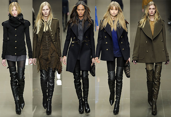 Womens Military Fashion: Burberry Prorsum fall 2010 collection