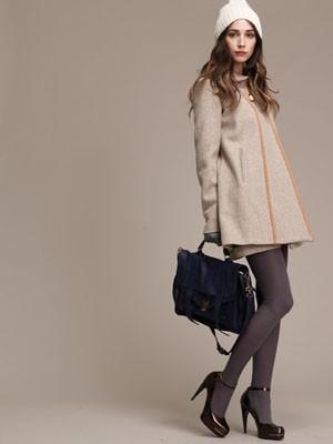 Designer Lauren Moffatt: Heather Gray Jacket with Yellow Piping