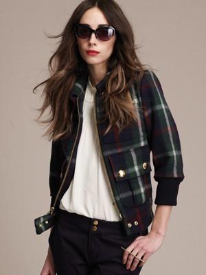 Designer Lauren Moffatt: Plaid Bomber Jacket
