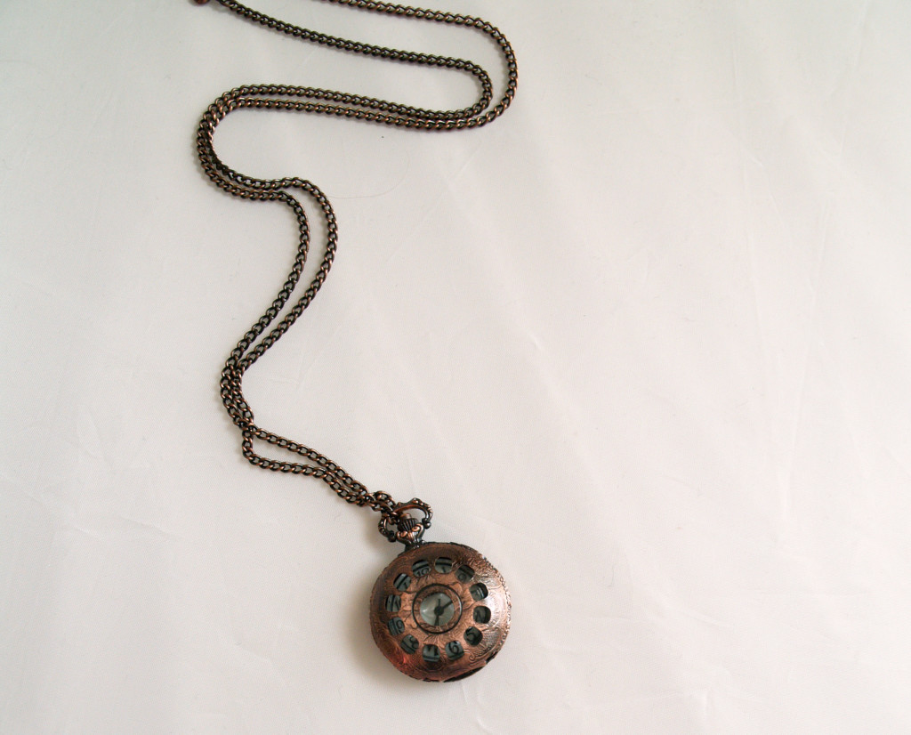 Vintage Watch Necklace from London