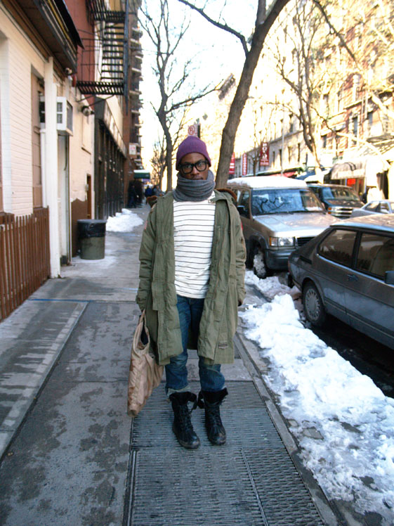 NYC Street Style_Parson Student in Ralph Lauren Jacket