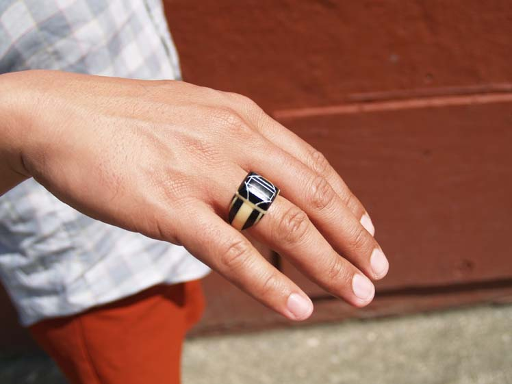 Street Style Men 39 S Ring Made Of A Toothbrush Handle The Emerald Palate
