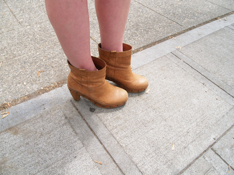 clog booties