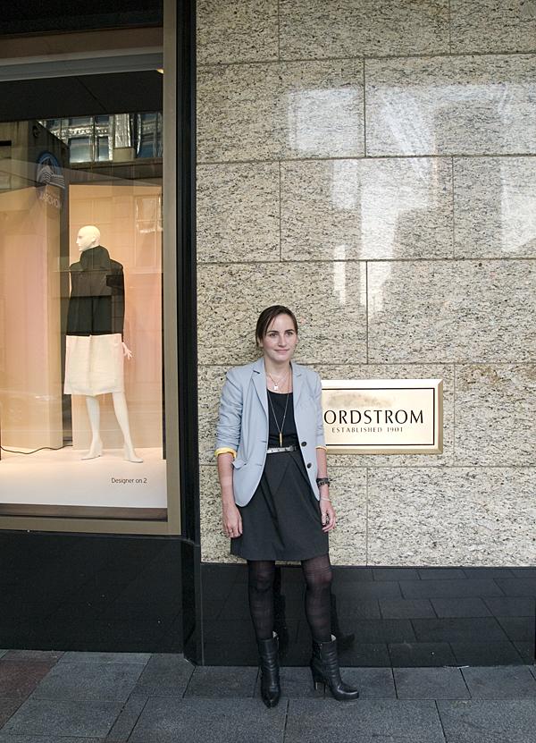 women in blazer, Seattle fashion