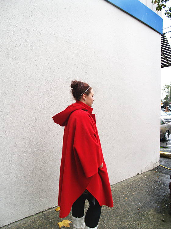 red womens cape