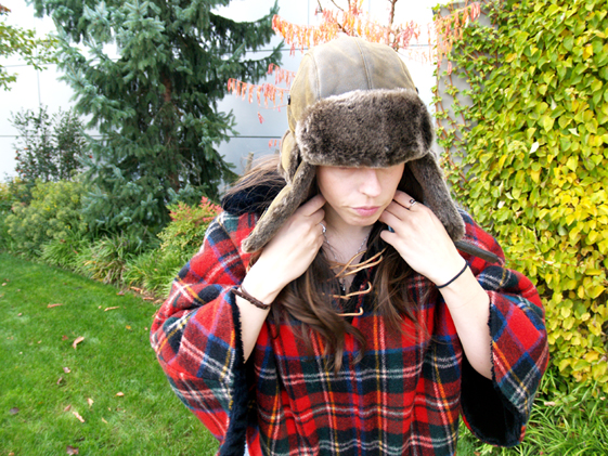 womens leather and fur bomber hat