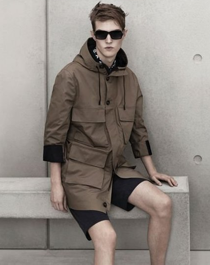 mens marni for H&M cargo rain coat