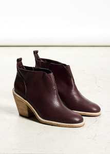 brown leather booties by Rachel Comey