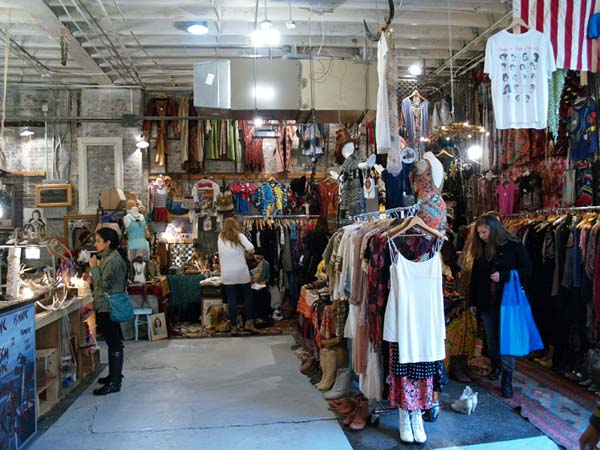vintage indoor flea market Brooklyn