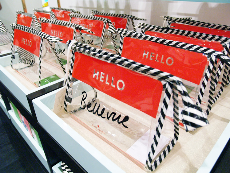 Kate Spade clear makeup bag