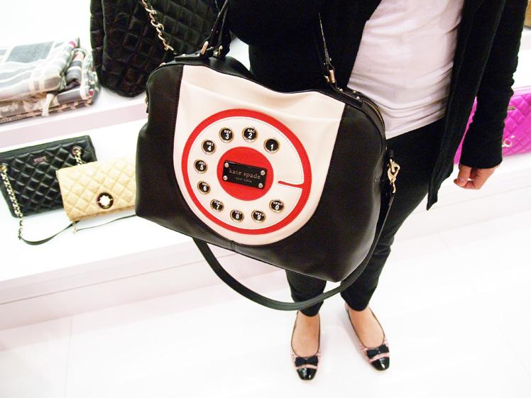Kate Spade clock handbag