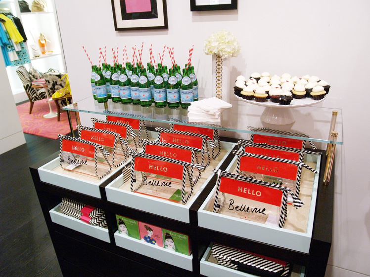 Kate Spade refreshments bar