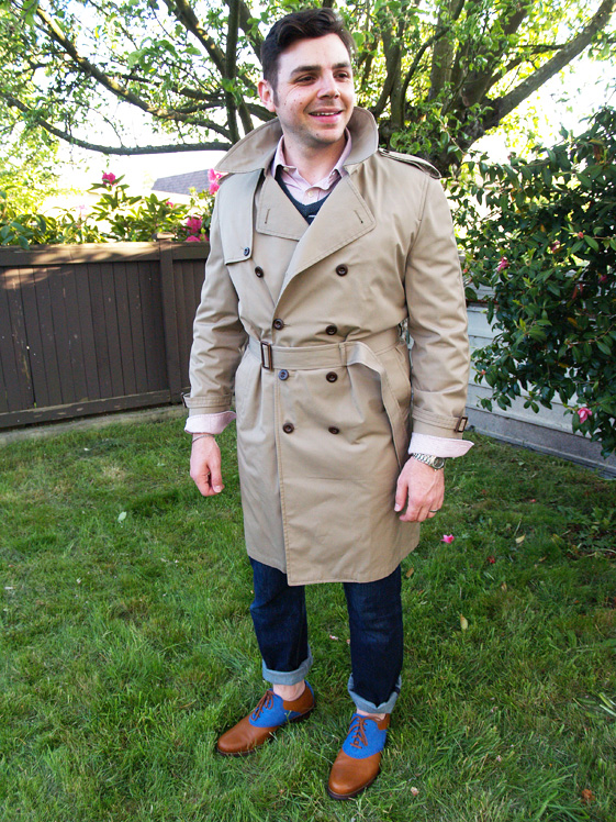 mens london fog trench
