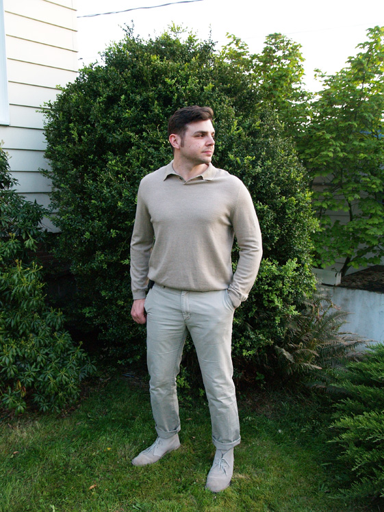 mens monochromatic camel outfit