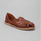 mens brown closed toe leather sandal