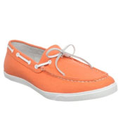 orange boat shoes for men