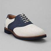 navy preforated summer brogues for men
