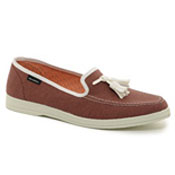 mens smoking loafer with tassle canvas
