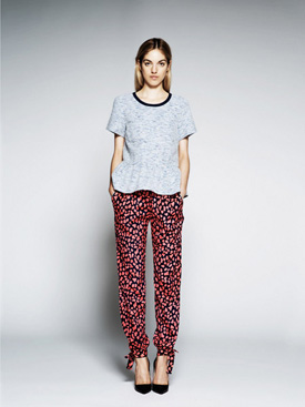 womens printed slouchy pants