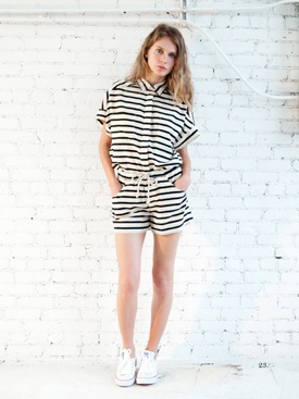 womens striped short sleeve romper