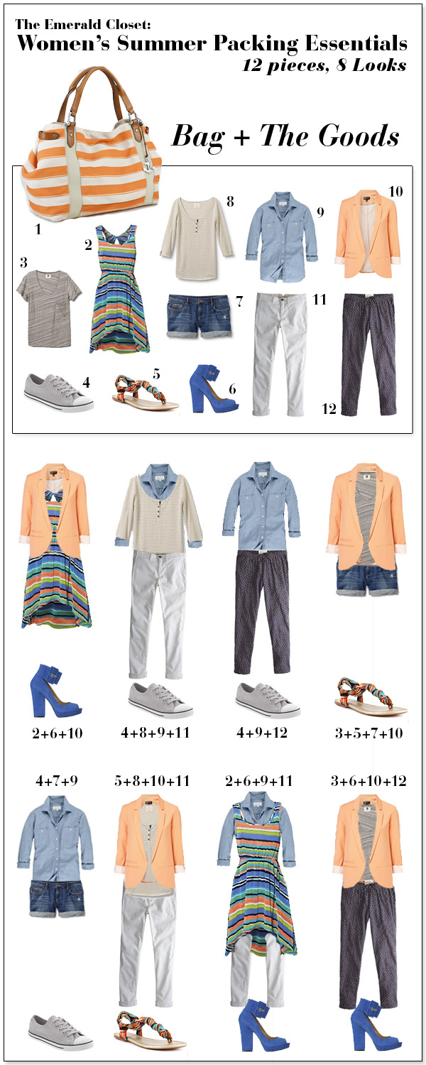 womens summer vacation packing essential 12 pieces 8 looks