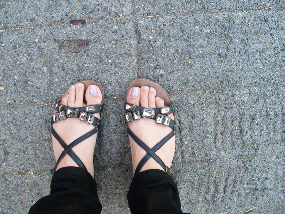 womens jeweled sandals