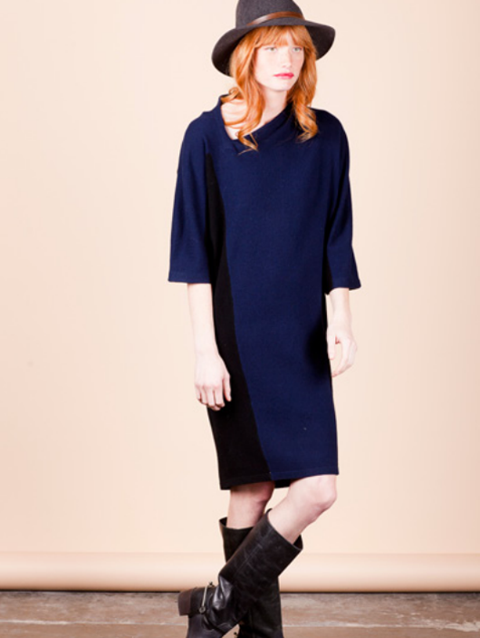 assymetrical sweater dress