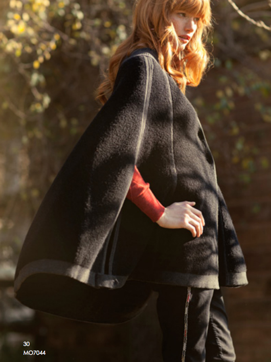 black wool cape for women
